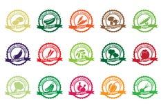Collection de vecteur : icônes végétales Photos libres de droits