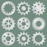 Collection de vecteur de roues de vitesse en métal images stock