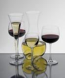 Collection de verres Photos libres de droits