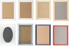 Collection de vieux cadres de tableau utilisés photos libres de droits