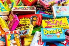 Collection de vieux chewing-gums Images stock