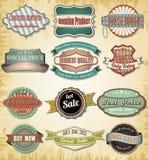 Collection de vieux label de vintage de couleur pour la conception Photographie stock libre de droits
