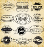 Collection de vieux label de vintage pour la conception Photos libres de droits