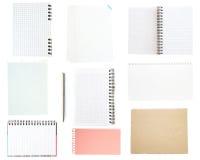 Collection de vieux papier de note image stock