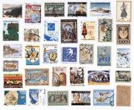 Collection de vieux timbres-poste de la Grèce. Images libres de droits