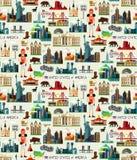 Collection de voyage des Etats-Unis illustration de vecteur