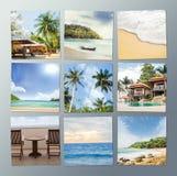 Collection de voyage et de photo de station de vacances Photo libre de droits