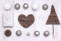 Collection de vue supérieure de Noël Images libres de droits