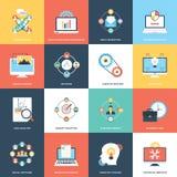 Collection de Web et de Seo Flat Icons Illustration de Vecteur