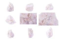Collection de Wollastonite minéral en pierre Photo libre de droits