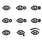 Collection de yeux - ensemble d'icône Photographie stock libre de droits