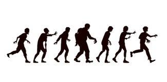 Collection de zombi de vecteur dans le style de silhouette illustration libre de droits