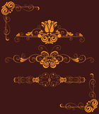 Collection decor elements. Collection of a   decorative element Royalty Free Stock Images
