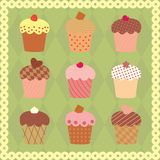 Collection of decorated cakes Royalty Free Stock Photography