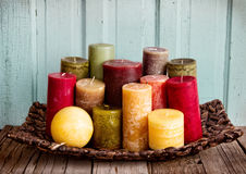 A collection of decorative candles Royalty Free Stock Photography