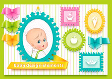 Collection for decoration child theme Royalty Free Stock Images
