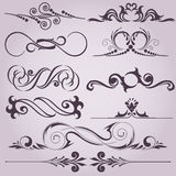 Collection of decorative elements Stock Photography