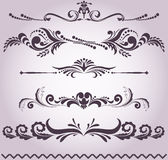 Collection of decorative elements Stock Photo