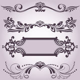 Collection of decorative elements 3 Stock Images