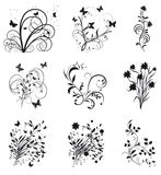 Collection of decorative elements for design Stock Image