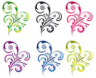 Collection of decorative elements for design Stock Photos