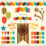 Collection of decorative elements for holiday Royalty Free Stock Images