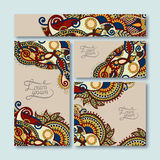 Collection of decorative floral greeting cards in Stock Photo