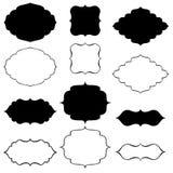 Collection of decorative frames. Bracket black decorative frames - vector Royalty Free Stock Photo