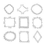 Collection of decorative loop frames Royalty Free Stock Image