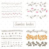 Collection of decorative seamless borders Stock Image