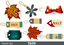 Collection of decorative  vector tags Stock Image