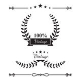 Collection of decorative wreaths line elements, border and page vector illustration
