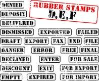 collection def rubber stamps Στοκ φωτογραφία με δικαίωμα ελεύθερης χρήσης