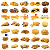 Collection of delicious baked pastry Royalty Free Stock Photo