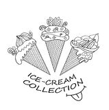 Collection of delicious dairy ice cream Stock Photos