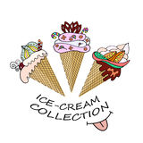 A collection of delicious dairy ice cream Stock Images