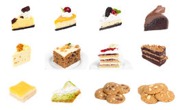 Collection of delicious dessert Royalty Free Stock Photos