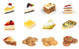 Collection of delicious dessert Stock Photo