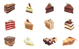 Collection of delicious dessert Stock Image