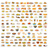 Collection of delicious food Stock Images