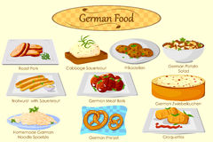 Collection of delicious German food Stock Photo