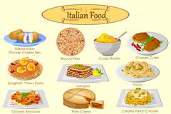Collection of delicious Italian food Royalty Free Stock Image