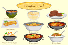 Collection of delicious Pakistani food Royalty Free Stock Photography