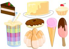 Candy.A collection of favorite sweets. stock illustration