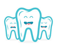 Collection dentaire avec des caractères de dents Photos stock