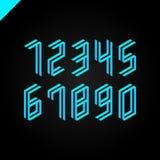Collection des nombres isométriques de sport réglés Police d'illustration de vecteur Photographie stock libre de droits