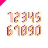 Collection des nombres isométriques de sport réglés Police d'illustration de vecteur Photographie stock
