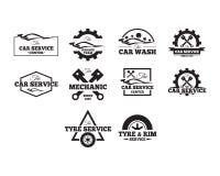Collection des véhicules à moteur d'insignes illustration libre de droits