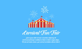 Collection design amusement park theme. Vector art Royalty Free Stock Photography