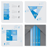 Collection of Design clean number banners template Stock Photography